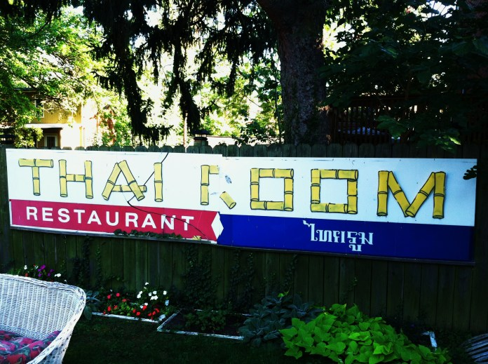 The Thai Room sign lives on. Photo by Joseph P. McRedmond