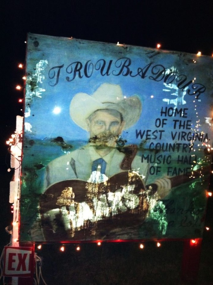 The Troubadour Lounge and Park - Home of the West Virgina Country Music Hall of Fame. Photo by Terri Holtz