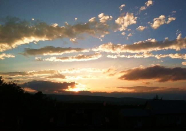 Jim McCoy's nightly view.  Sunset at Troubadour Park. Photo by Joseph P. McRedmond