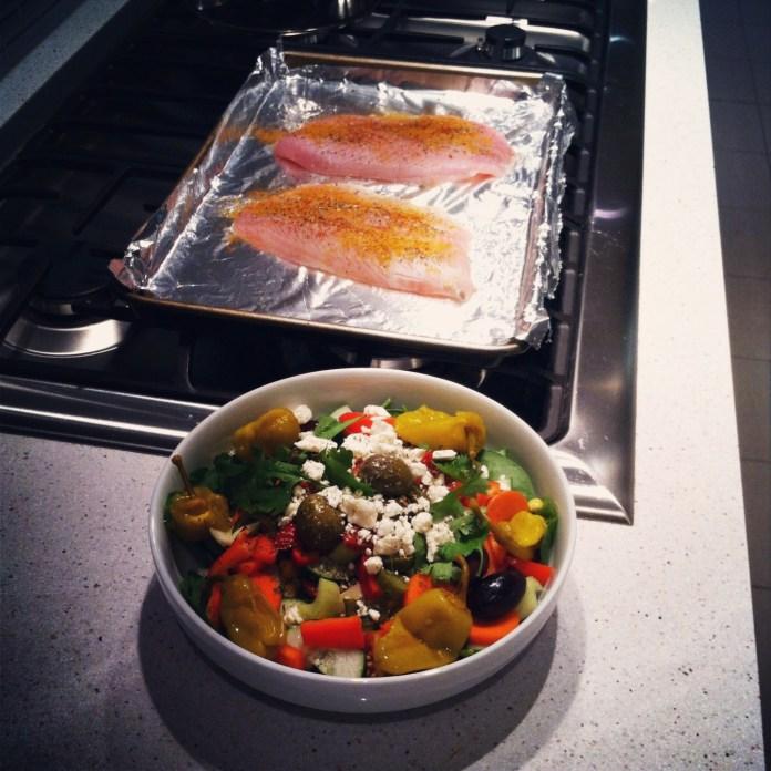 Tilapia & Salad