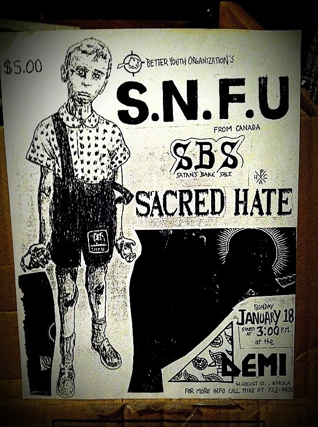 Opening for SNFU January 1987