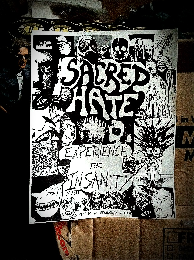 Sacred Hate Experience the Insanity Demo Release Flyer Advertisement