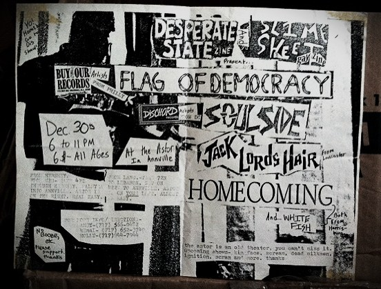 "Homecoming show flyer, but pretty sure they played as ""Assfrag"" instead."