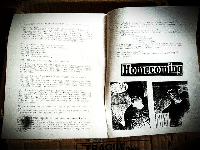 Tourist Trap Fanzine #1 with Homecoming interview