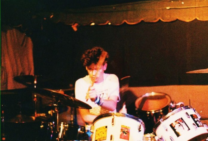 The Homecoming, Live 1987, Craig Montgomery on drums.  Photo by Chris/Crystal DiPietro.