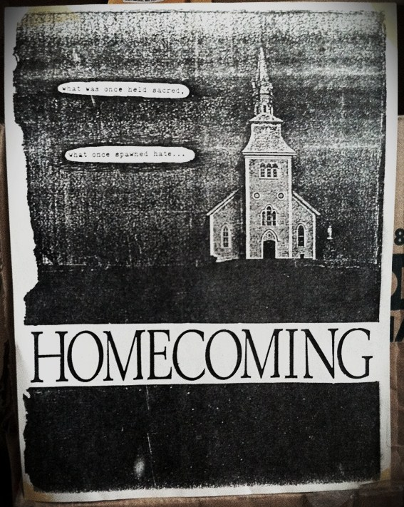 Homecoming flyer announcing the change in name from Sacred Hate.