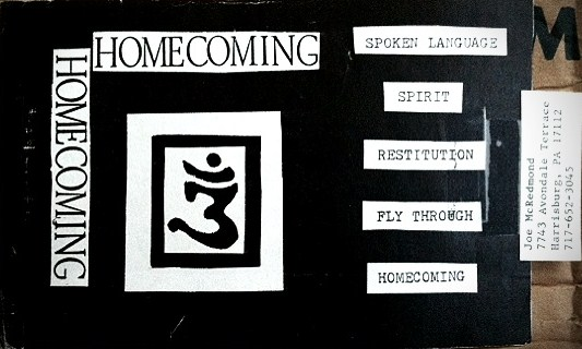 The Homecoming Demo tape cover, designed by Mike Harbin